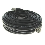 VHF Antenna Cable (RG8X) with PL259 Connectors - 100 feet