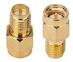 SMA Male (Pin) to RP-SMA Female (Pin) Adapters (set of 2)